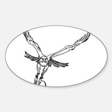 Cute Red tailed hawk pictures Sticker (Oval)