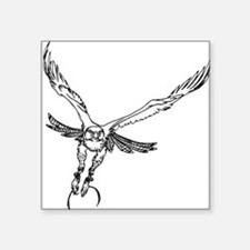 "Cute Red tailed hawk Square Sticker 3"" x 3"""