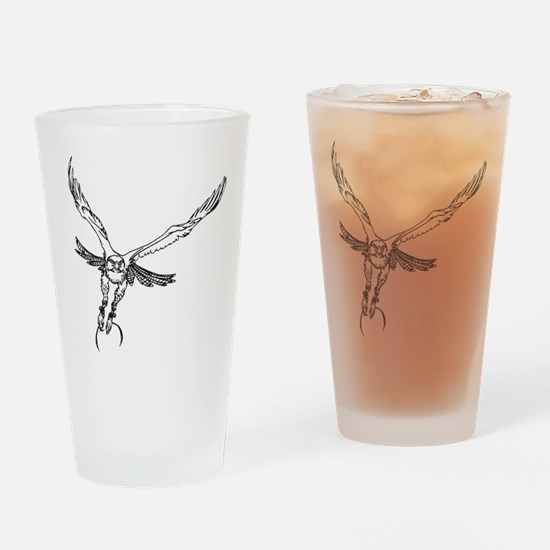 Funny Falconry Drinking Glass