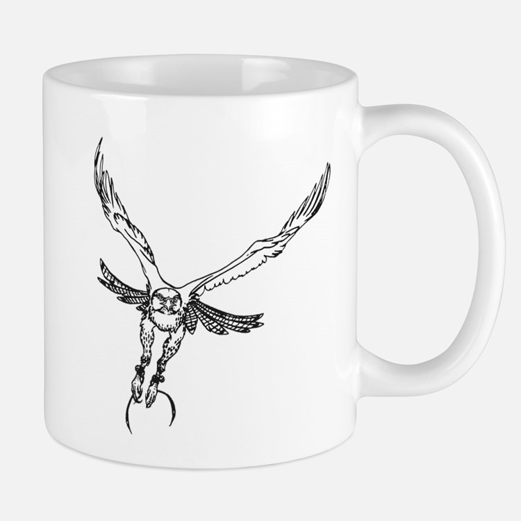 Cute Redtail hawk Mug