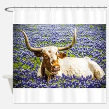 Cute Texas longhorns Shower Curtain