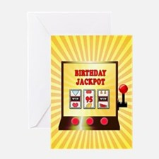 95th birthday, slot machine Greeting Cards
