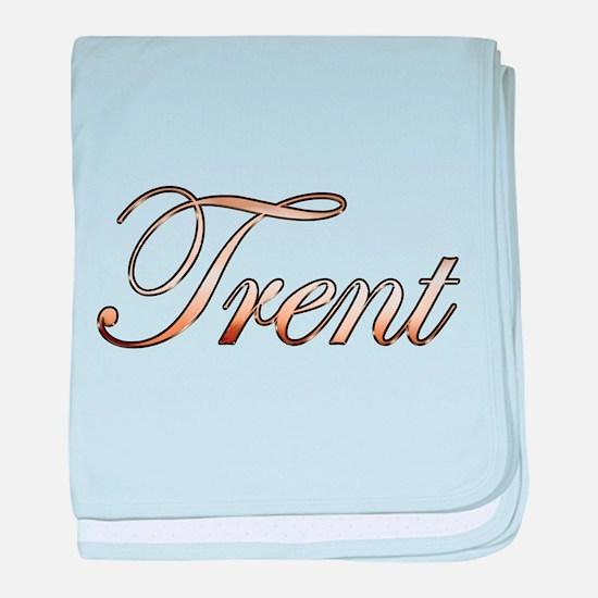 Gold Trent baby blanket