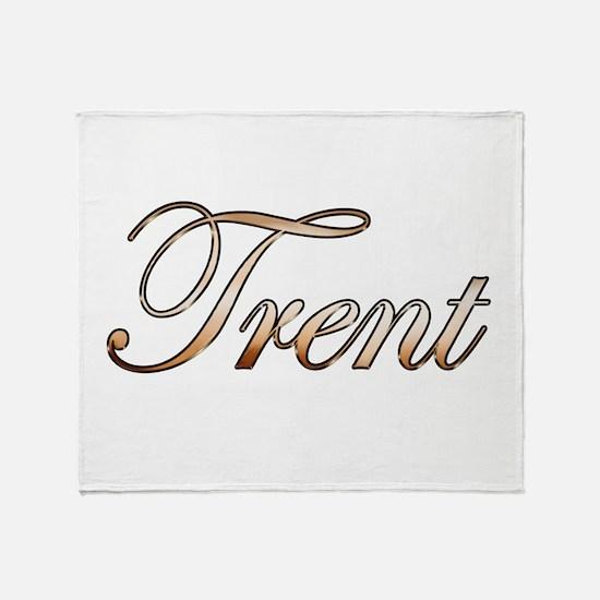 Gold Trent Throw Blanket