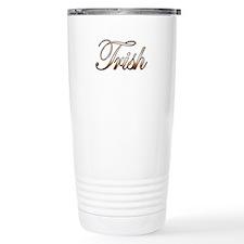 Gold Trish Travel Coffee Mug