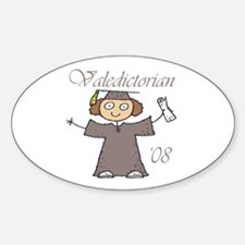 Valedictorian '08 Oval Decal