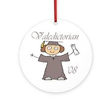 Valedictorian '08 Ornament (Round)