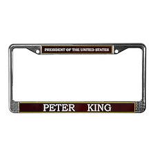 Peter King for President V3 License Plate Frame