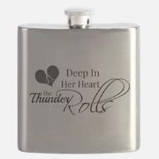 Deep In Her Heart The Thunder Rolls Flask