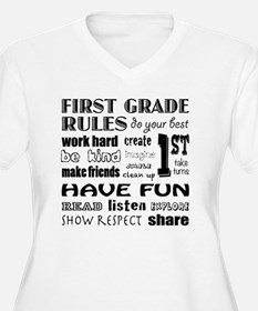 First Grade Classroom Rules Plus Size T-Shirt