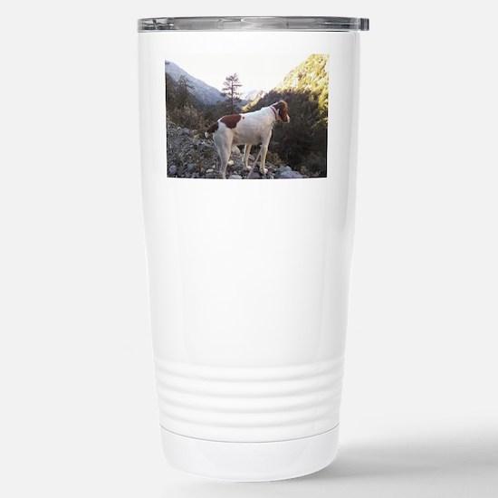 Brittany Spaniel Hiking Stainless Steel Travel Mug