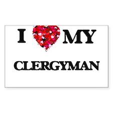 I love my Clergyman hearts design Decal