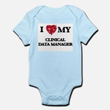 I love my Clinical Data Manager hearts d Body Suit