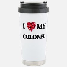I love my Colonel heart Travel Mug