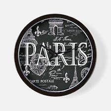 Paris Black and White Wall Clock