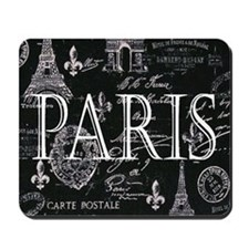 Paris Black and White Mousepad
