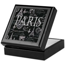 Paris Black and White Keepsake Box