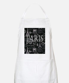 Paris Black and White Apron