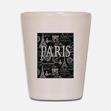 Paris Black and White Shot Glass