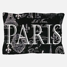 Paris Black and White Pillow Case