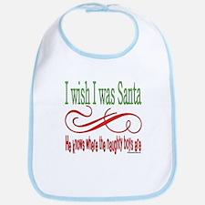 I Wish I Was Santa Claus Bib