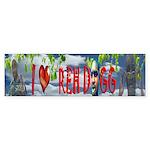 I love Reh Dogg Sticker (Bumper)