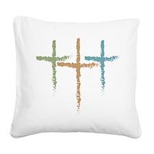Christian Crosses, Holy Trini Square Canvas Pillow