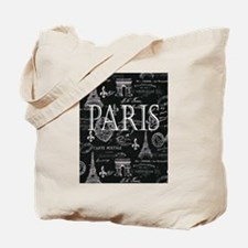 Paris Black and White Tote Bag