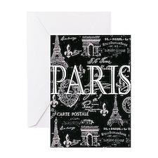 Paris Black and White Greeting Cards