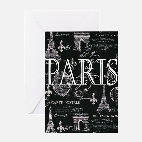 Paris Black and White Greeting Cards