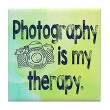 Photography is My Therapy Tile Coaster