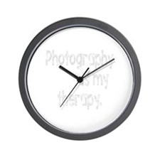 Photography is My Therapy Wall Clock