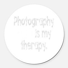 Photography is My Therapy Round Car Magnet