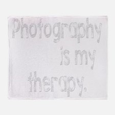 Photography is My Therapy Throw Blanket