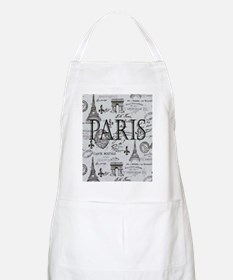 Paris White and Black Apron