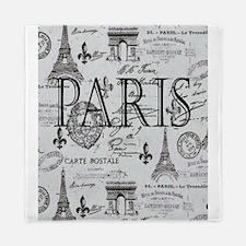 Paris White and Black Queen Duvet