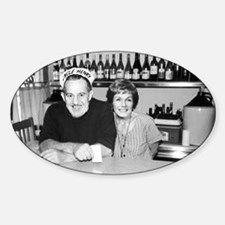 Uncle Henry & Miss Jinny at Ugley's Oval Decal