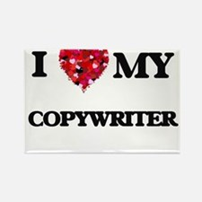 I love my Copywriter hearts design Magnets