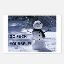 GFY Snowman Postcards (Package of 8)