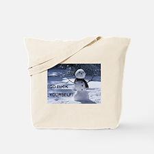 GFY Snowman Tote Bag