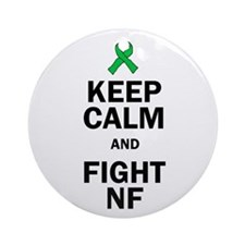 Keep Calm And Fight Nf Ornament (round)