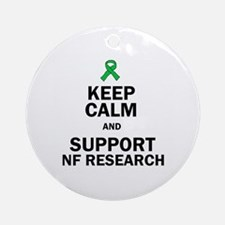 Keep Calm And Support Nf Research Ornament (round)