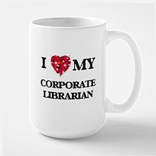 I love my Corporate Librarian hearts design Mugs