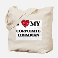 I love my Corporate Librarian hearts desi Tote Bag