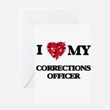 I love my Corrections Officer heart Greeting Cards