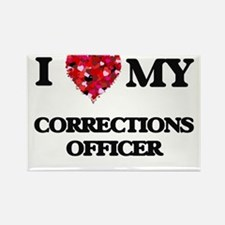 I love my Corrections Officer hearts desig Magnets