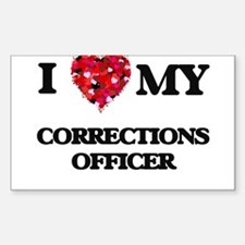 I love my Corrections Officer hearts desig Decal