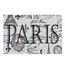 Paris White and Black Postcards (Package of 8)
