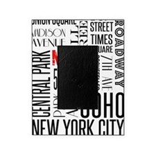 NY Streets White and Black Picture Frame