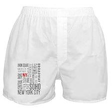 NY Streets White and Black Boxer Shorts